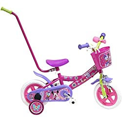 Bicicleta Niño Disney Minnie con barra de Aprendizaje 10