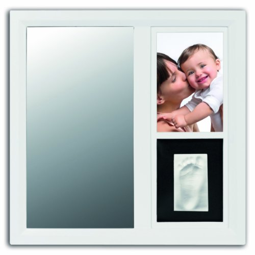 Baby Art Cadre Photo Mirror Print Frame - Blanc / Blanc-Noir