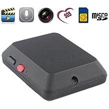 Boriyuan 2015 Nueva de seguridad GSM Spy X009 Bug teléfono tarjeta SIM Auriculares de dispositivo de Audio y vídeo de vigilancia para exteriores SOS de emergencia