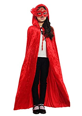 Halloween Cape à Capuche Poncho avec Capuchon Longue Costume Cosplay
