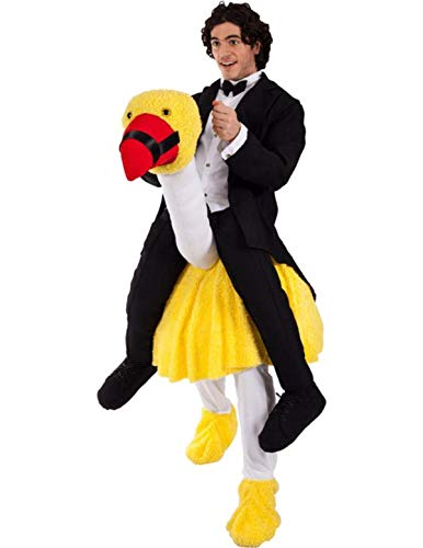 Adult Unisex Ostrich Rider Animal Zoo Outfit Fancy Dress Costume