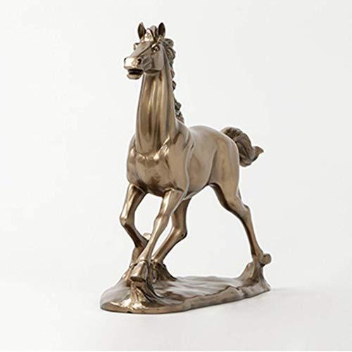 NFWER Cold Cast Bronze Farbe sprinten Pferde Figur Statue Decor -