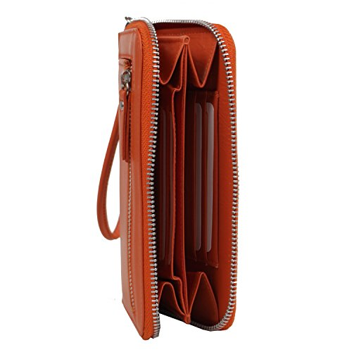 Greenburry Spongy Porte-monnaie cuir 17 cm emplacement portable türkis orange