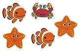 PANA® Anti Rutsch Sticker für Dusche und Badewanne I Aufkleber I Selbstklebend I Kindermotive I 5er Set