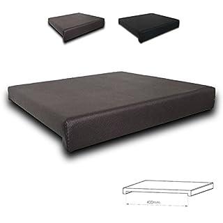 Klemmkissen Sitzkissen 2 Leisten - 40cm Klemmtiefe Kunst-Leder braun oder schwarz Farbe:braun