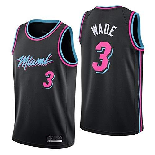 Canotte da Basket da Uomo NBA Miami Heat 3# Wade Maglia Estiva da Ricamo