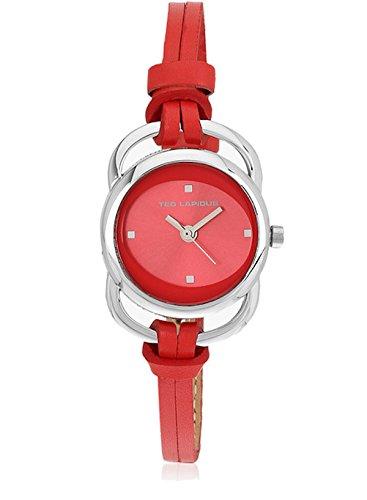 Ted Lapidus A0285REPE - Reloj de pulsera mujer, piel, color naranja