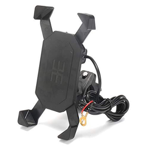 TENGGO 3.5-6In USB Ladegerät Fahrrad Lenker Handy Mount Handyhalter Für iPhone x Xs Xr iPhone 7/Plus Samsung Galaxy S6/S7/S8/S9 Android