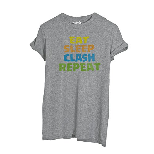 Image t-shirt eat sleep clash repeat - music - bambino-m-grigio sport
