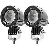 10W Cree LED Scheinwerfer Arbeitsleuchten Fahrleuchten Scheinwerfer Offroad Nebelscheinwerfer 12V für Auto Motorrad Truvk ATV ATV SUV Blat JK Scheinwerfer (Packung mit 2)