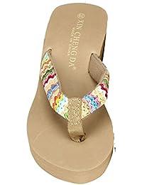 Damen Sommer Schuhe Xinan Plattform Strand Patch Flip Flops
