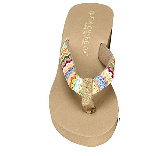 Xinan Damen Sommer Schuhe Slipper Hang mit Flip Flops Sandalen (36, Schwarz)