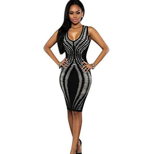 TWBB Bekleidung Damen Kleider, Sexy Kleid V Ausschnitt -