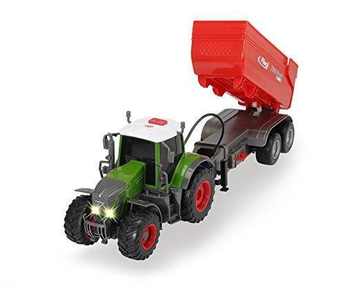 Dickie Toys 203737000 - Fendt 939 Vario Traktor mit Licht, Sound und batteriebetriebenen Fliegl Anhänger