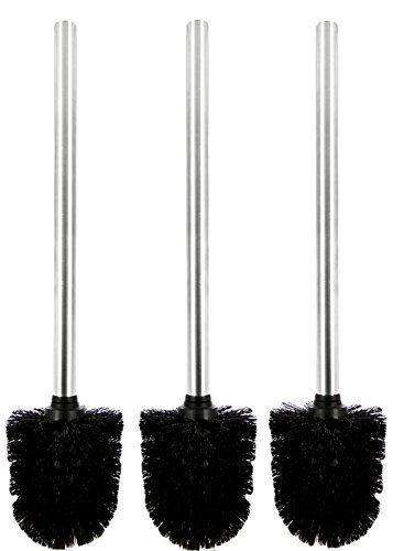 Druline WCBSES  Toilettenbürste, Edelstahl, silber/schwarz, 36.0 x 8.0 x 36.0 cm