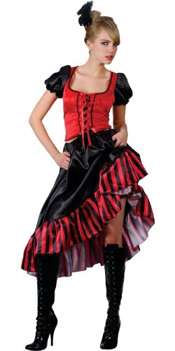 Can Can Saloon Girl - Adult Costume Lady: XXL (UK:26-28) (Saloon Girl Adult Kostüm)