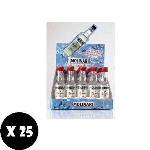 25 bottigliette mignon miniature 3 cl