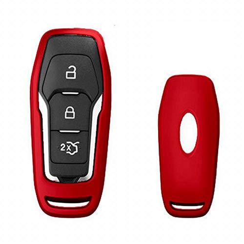 FELICIGG Für Ford Schlüsselanhänger Abdeckung, Premium Soft TPU 360 Grad Voller Schutz Schlüssel Shell Key Case Cover Kompatibel mit Ford Edge Foreus Mondeo Klasse Keyless Smart Schlüsselanhänger (Schlüsselanhänger Edge Ford)