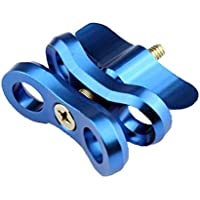 Adjustable Underwater Photography Diving Butterfly Clip Lights Arm Clamp Portable Diving Butterfly Clip Fill Light Ball Head Clip Motion Camera Accessory 1 Piece Blue