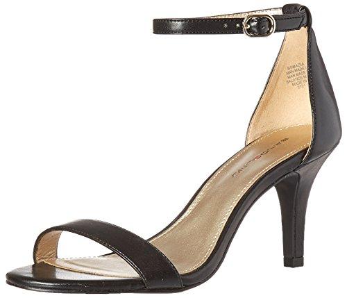 Bandolino Damen Sandalen, schwarzes Leder, 40 EU -