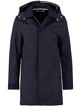 Pier One – Abrigo corto para hombre, liso, color azul marino o verde oliva, con capucha desmontable – chaqueta...