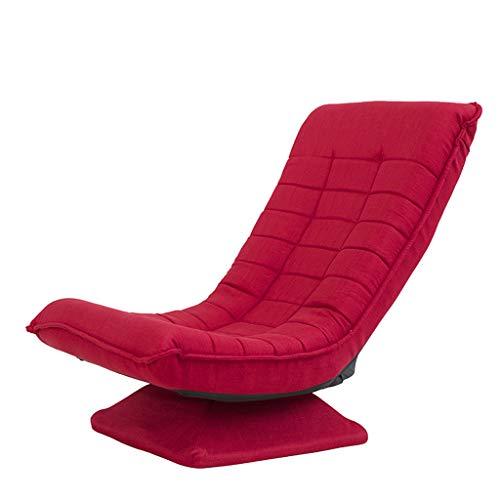 WXFO Multifunktionsklappstuhl, 360-Grad-Drehung, leicht zu verstauen und waschbar, Wohnzimmerschlafzimmer, Vier Farben optional Klappstuhl (Farbe : Rot)