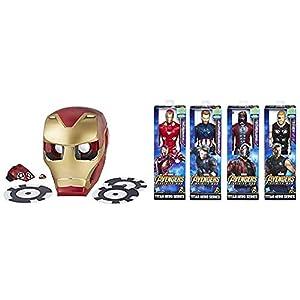 Marvel Avengers - Hero Vision Iron Man realidad aumentada, talla única (Hasbro E0849175) + Titan Hero Series, modelos surtidos (Hasbro E0570EU4)