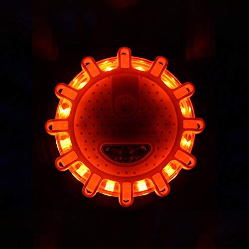 KKmoon 30 LED Gyrophare Orange LED Voyant 15W d/'Urgence Avertissment Clignotant Balise de S/écurit/é Stroboscope 9-30V
