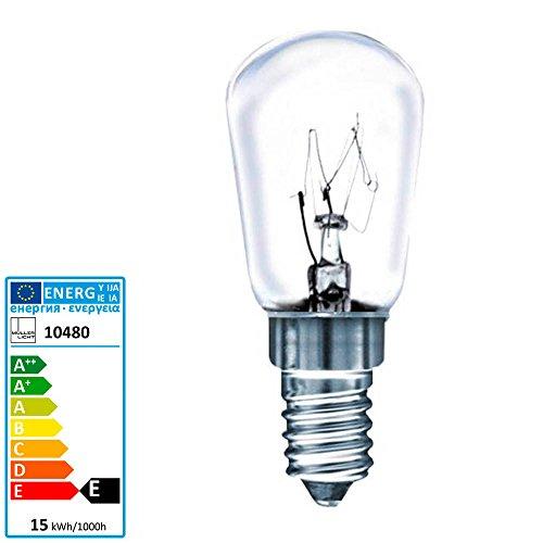 Müller Licht Birnenformlampe Kühlschrank E14 230 Volt 15 Watt klar Klar Appliance Glühbirne