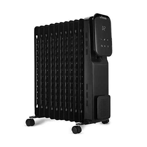 Ufesa RD2500D - Radiador de Aceite Portátil 2500W, con Pantalla Digital Táctil, Temporizador de 24h...