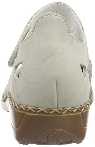 Rieker 41357 Damen Geschlossene Ballerinas Beige (marble / 61)