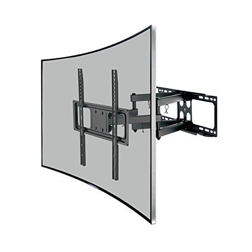 SAVONGA TV WANDHALTERUNG für 26 bis 55 Zoll Fernseher beweglich auch für curved TV VESA-Standard 75x75 100x100 100x200 200x100 200x200 200x400 300x200 300x300 400x200 400x300 400x400 (522117N)