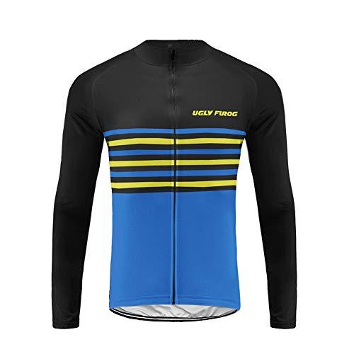 Uglyfrog Bike Wear Radsport Bekleidung Herren Winter Style with Fleece Thermo Winddicht Fahrradbekleidung Langarm Radtrikot Long Sleeve Oberteil/Trikots & Shirts DEHWCX04 -