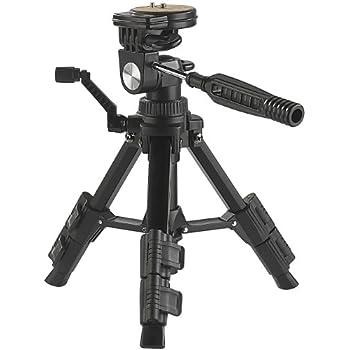Somikon Fotostativ: Standfestes Mini-Stativ mit flexiblem 3-Wege-Kopf (Reisestativ)