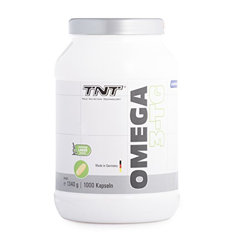 Omega 3 Kapseln Hochdosiert – Reines Fischöl mit EPA & DHA ohne Zusätze – Omega 3 Fettsäuren / 1000 Caps