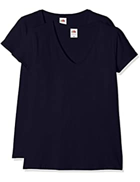 Fruit of the Loom Ladies Valueweight V-Neck, Top para Mujer