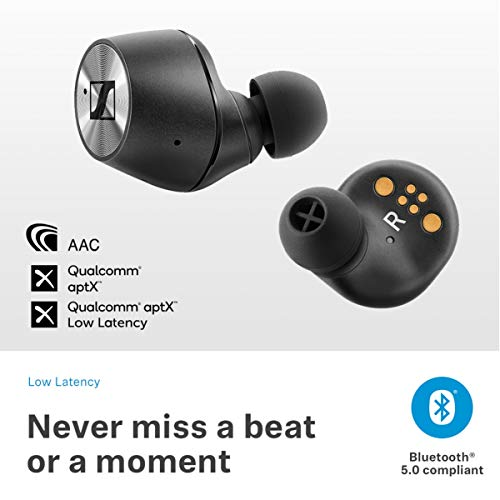 Sennheiser Momentum True Wireless in-Ear Bluetooth Headphone with Multi-Touch Fingertip Control (Black) Image 5