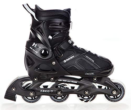 RAVEN Inline Skates Inliner Pulse Black verstellbar (40-43(25cm - 27,5cm))