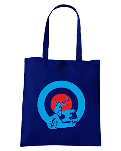 T-Shirtshock - Borsa Shopping OLDENG00344 mods vespa Blu Navy