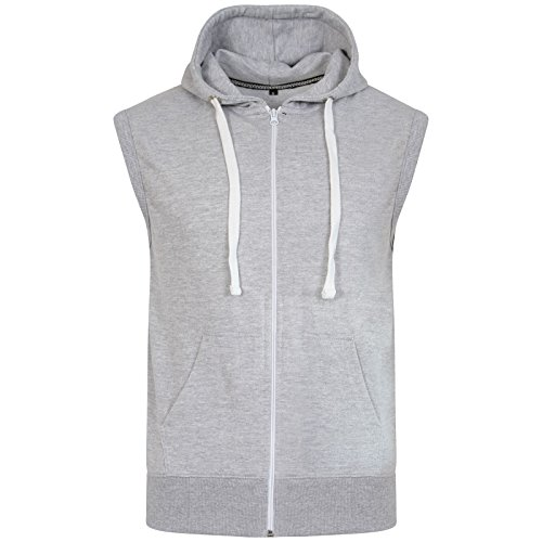 Mens Sleeveless Gym Sweatshirt Premium Gilet Fleece Hoodie Top Summer Size S-XL