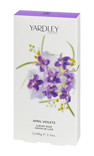 Yardley London April Violets Luxury Soap 3 x 100 g