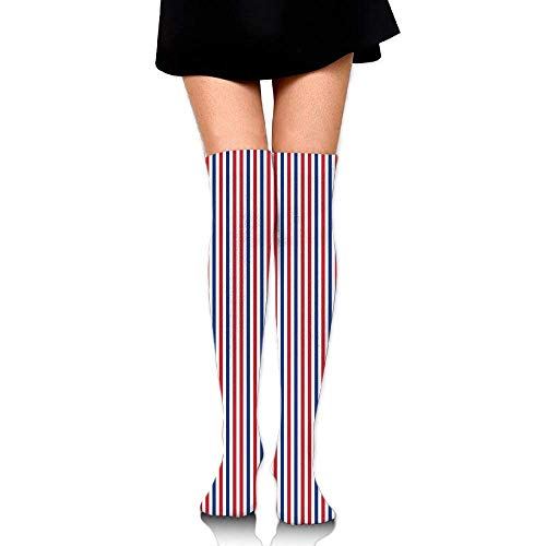 OQUYCZ Womens Symbolic Colors of American Independence Day Classic Tones National Concept Soft High Socks