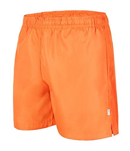 #100 Badeshort Herren a100 orange, Größe 4XL (Schwimmen Cargo)