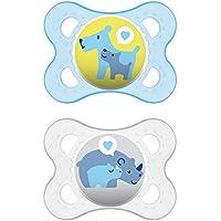 MAM 542411 - Ciuccio Original in silicone per bambini da 0 a 6 mesi, senza BPA, confezione doppia, colori assortiti