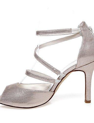 WSS 2016 Chaussures de mariage-Or-Mariage / Habillé / Soirée & Evénement-Talons / Bout Ouvert-Sandales-Homme 3in-3 3/4in-golden