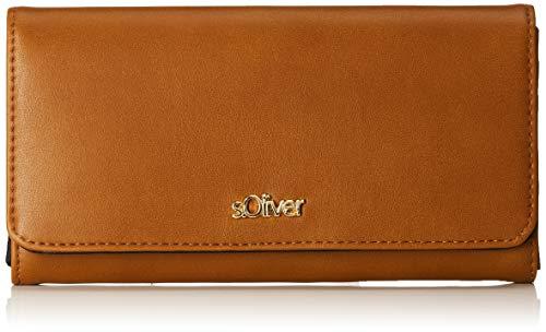 s.Oliver (Bags Damen 39.903.93.5601 Geldbörse, Braun (Cognac) 3x11x19 cm
