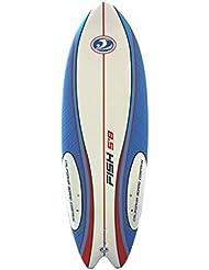 California Board Company Sushi Fish Surfbrett 5ft 8–Rot/Weiß/Blau
