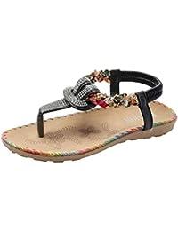 Zapatos de Sandalias Ligeros Ocasionales para Damas de Mujer Pisos Y Mocasines Playa de Verano Punta
