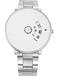 SPINOZA White Dial Steel Belt Unique Design Professional And Attractive Analogue Watch For Boys And Girls