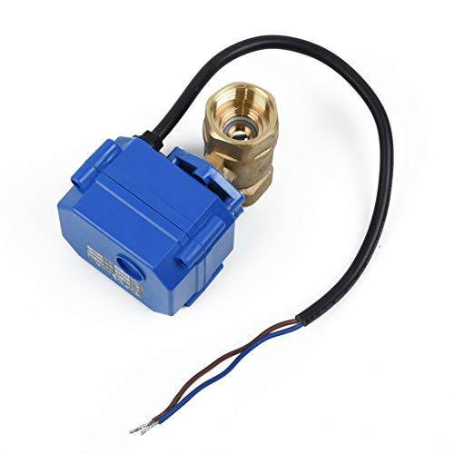 WEISY Motorized Ball Valve DREI viertel & quot; Brass 9V led-lampen to 24V Normally Closed 2 Wire Auto Return -